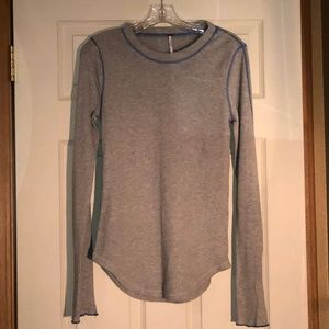 Free People Thermal Zip Sleeve Top